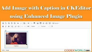 Insert Image with Caption in CKEditor