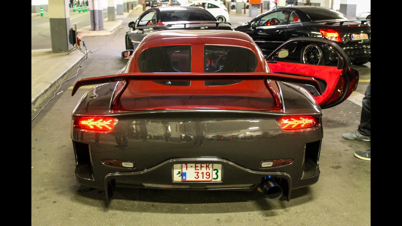 Mazda RX-7 with Veilside fortune bodykit | Sounds, Details, Acceleration