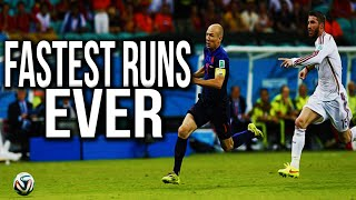 FASTEST Runs In Football ● Ronaldo, Messi, Robben, Salah, Bale, Bellerin 2016