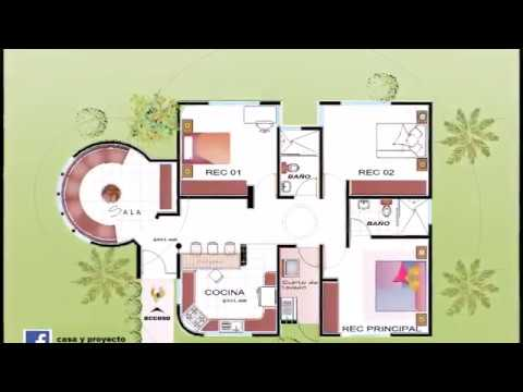 Plano de casa de un piso en terreno de 10 x 20 metros - Planos de casas minimalistas ...