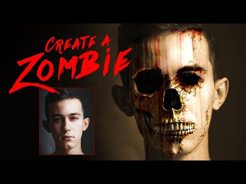 Photoshop: How To Transform A Face Into A Flesh-eating, ZOMBIE!