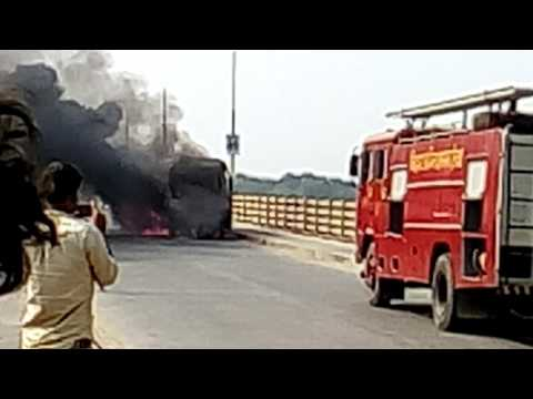 Rescue operation by fire brigade in hajipur