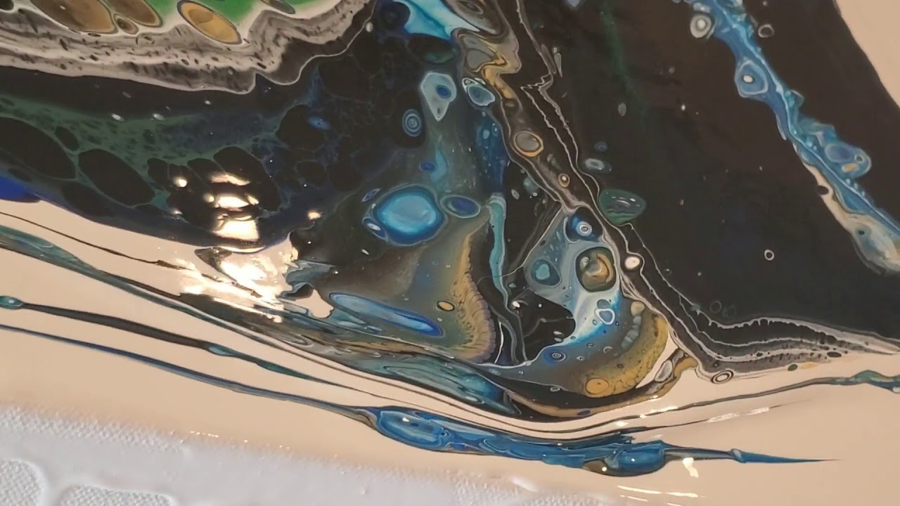 24x36\u201d Abstract Acrylic Pour Painting