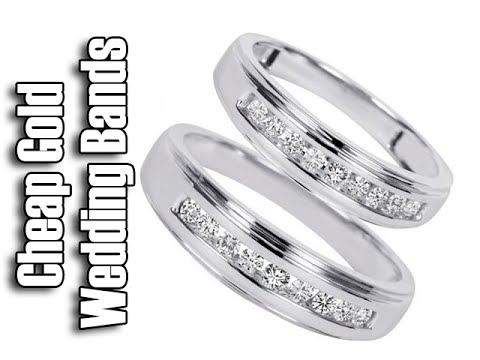 Cheap White Gold Wedding Rings | His And Hers Wedding Band Sets