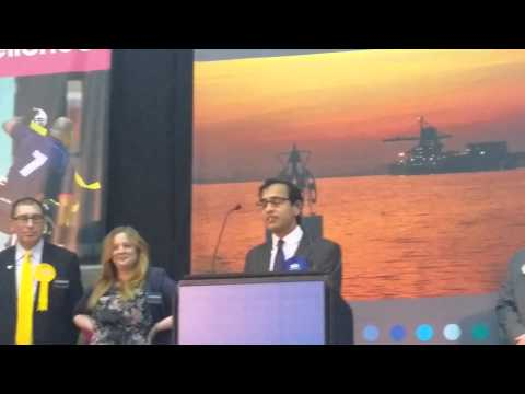 Rehman Chishti MP - acceptance speech and declaration - 2015 General Election