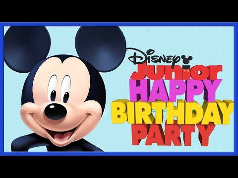 Mickey Mouse Clubhouse - Doc McStuffins, Sofia Disney Junior Happy Birthday Cake For Kids