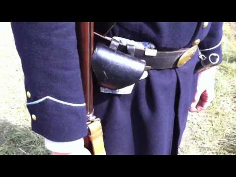 Loading and Firing a Civil War Rifled Musket