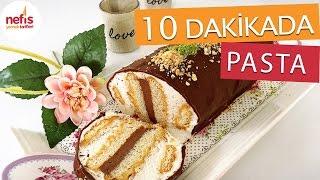 10 Dakikada Silindir Şekilli Pasta Tarifi