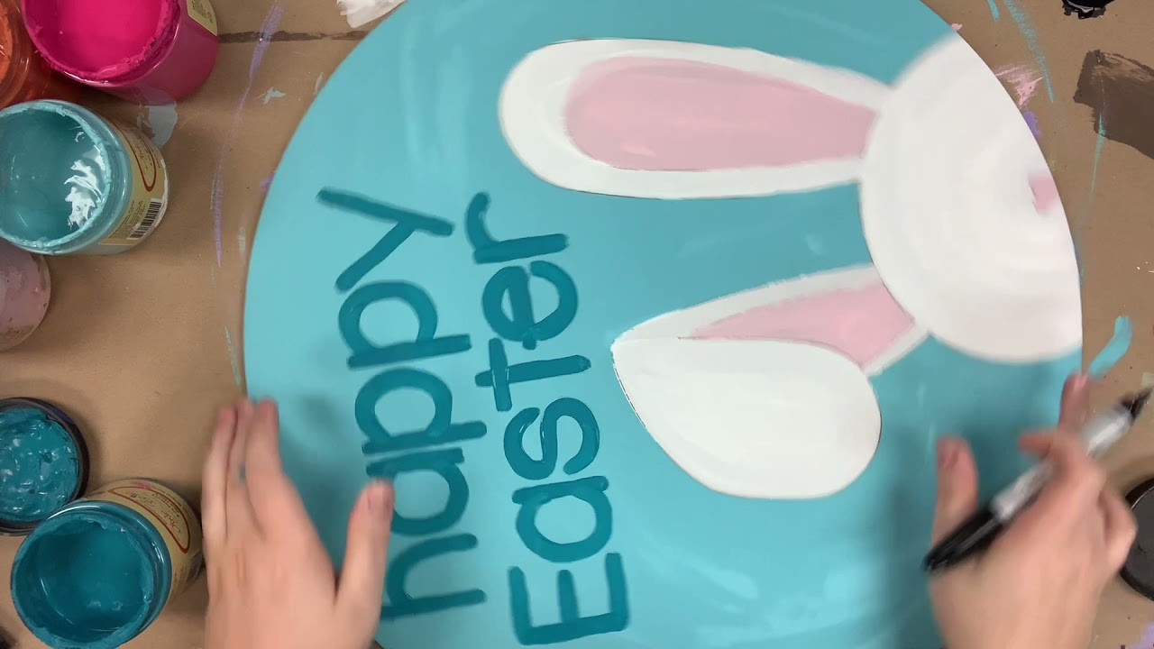 Happy Easter Bunny Circle Cutout How To S5E11