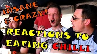 Crazy reactions to eating chilli (compilation) - VOMIT WARNING!