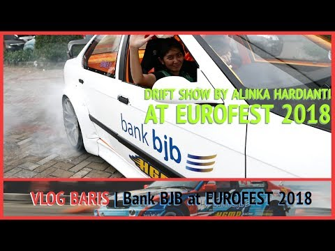 Alinka Ngedrift di Eurofest 2018 with Bank BJB HGMP Racing T