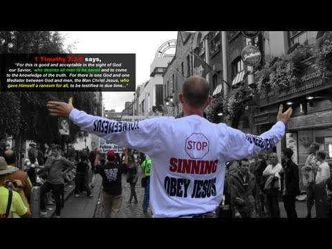 Large Crowds Draw To Hear American Preacher! | Temple Bar Dublin, Ireland | Kevin Lovell