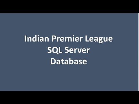 Indian Premier League Database Overview