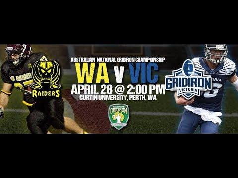 Australian Gridiron League 2018 - WA v Vic