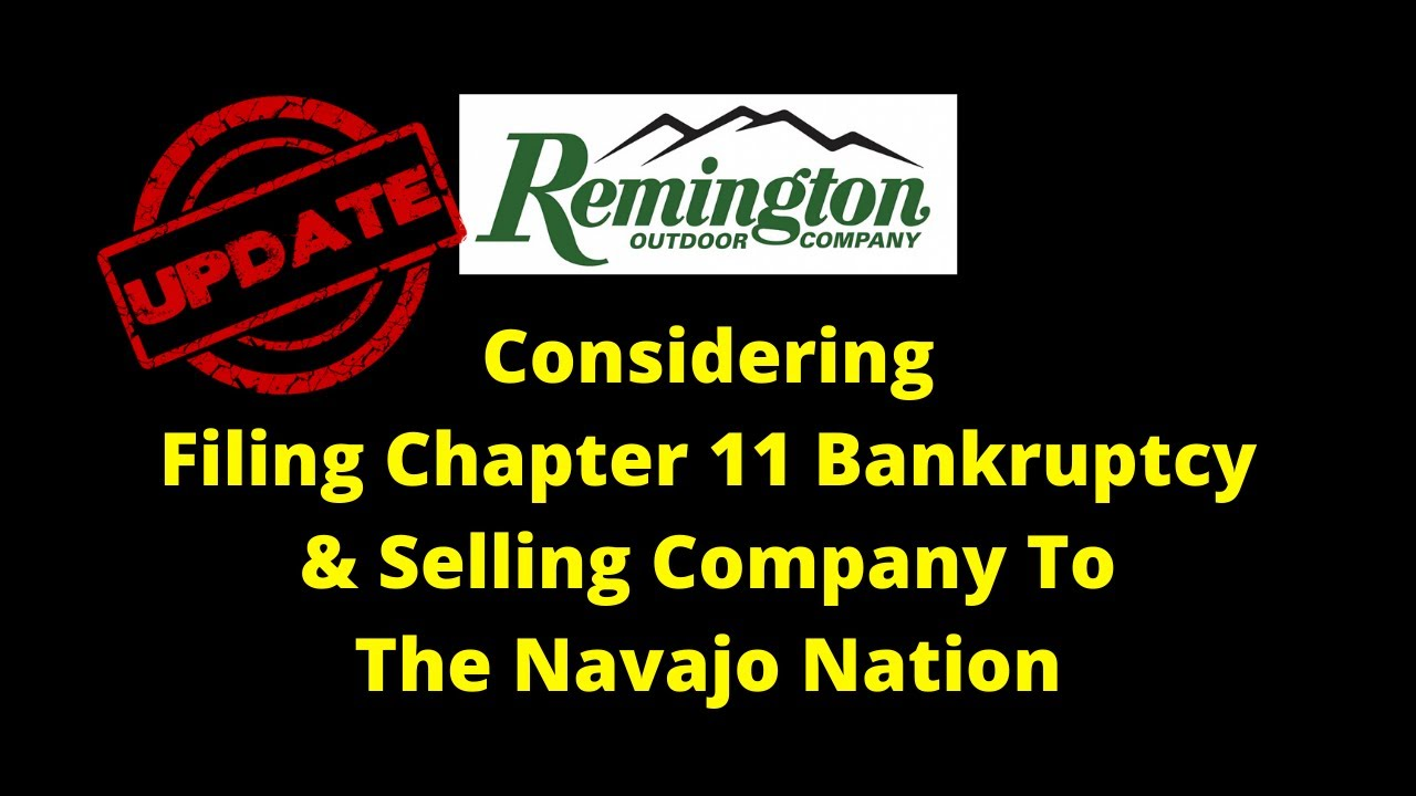 UPDATE On The Remington Bankruptcy Sale Situation (Smart Guns)