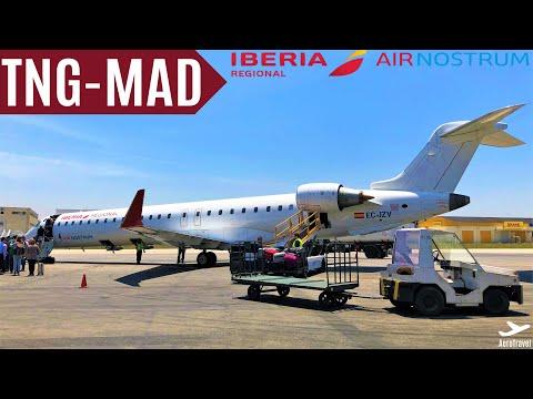 AIR NOSTRUM / IBERIA | CRJ 900 | TRIPREPORT | TANGIER - MADRID | IB 8375 | FullHD