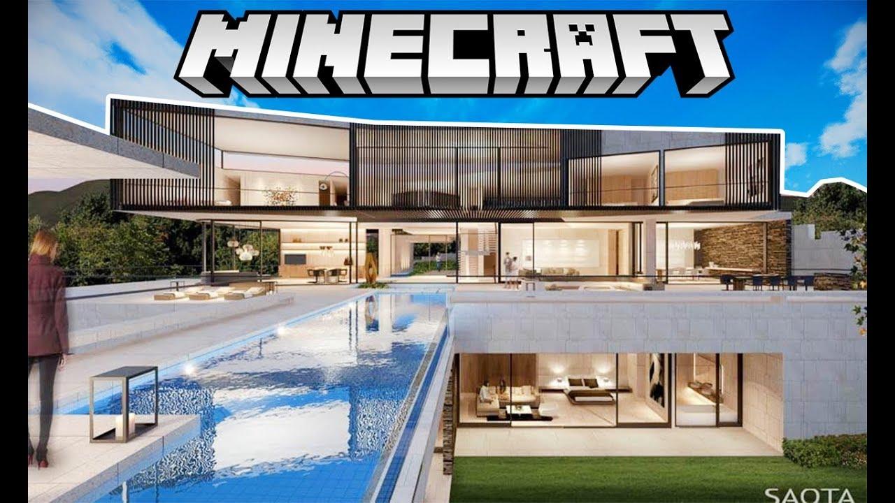 Minecraft em busca da casa moderna de luxo youtube for Jazzghost casas modernas 9