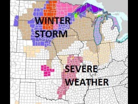 BLIZZARD  CONDITIONS IN NORTHERN PLAINS. COLD FRONT TO EAST COAST. SNOW THREATS THIS WEEKEND