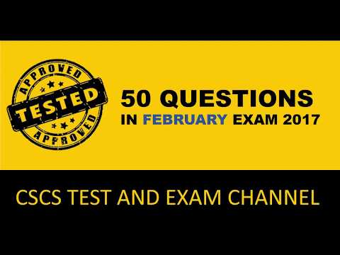 Questions Of Cscs Test In Feb