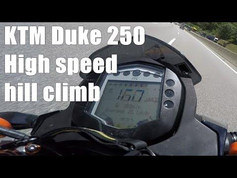 KTM Duke 250 High speed hill climb | IAMABIKER