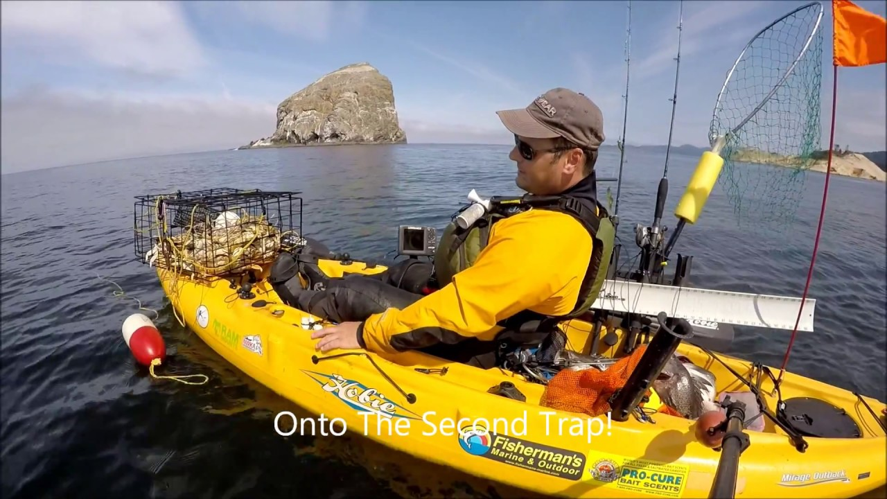 How to crab from a kayak youtube for Kayak fish stringer