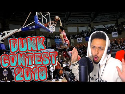 SOME OF THE WORST DUNKS IVE SEEN!! PBA DUNK CONTEST 2018 REACTION