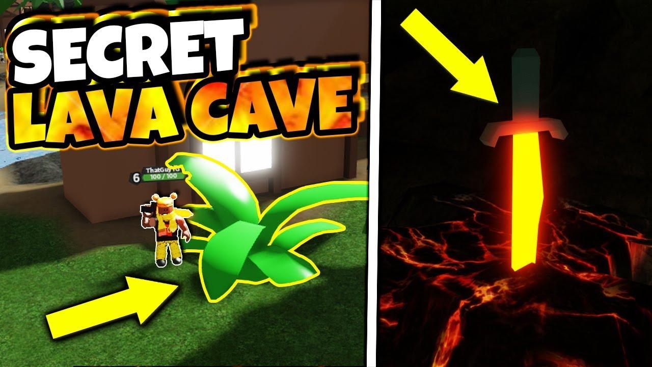 Secret Lava Blade Inside Lava Cave In Treasure Quest Roblox