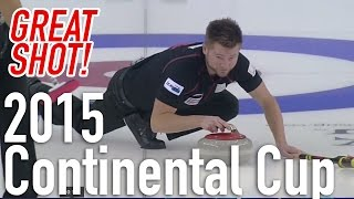 McEwen Spin-O-Rama to the Button - 2015 World Financial Group Continental Cup of Curling