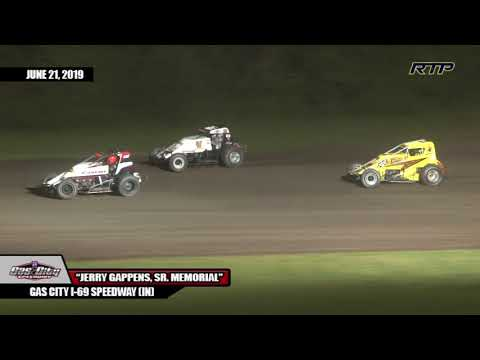 "2019 Gas City I 69 Speedway - ""Jerry Gappens, Sr. Memorial"" - Sprint Cars - (Highlights)"