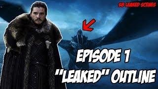 "Season 8 Episode 1 ""LEAKED"" Scenes Game Of Thrones S8 (Outline)"