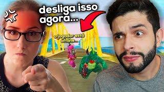 ELE CHOROU?!? QUANDO IA JOGAR COMIGO A MÃE CHEGOU BOLADA NO FREE FIRE!!!