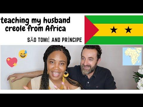 I TEACH MY HUSBAND CREOLE FROM S.TOMÉ🇸🇹