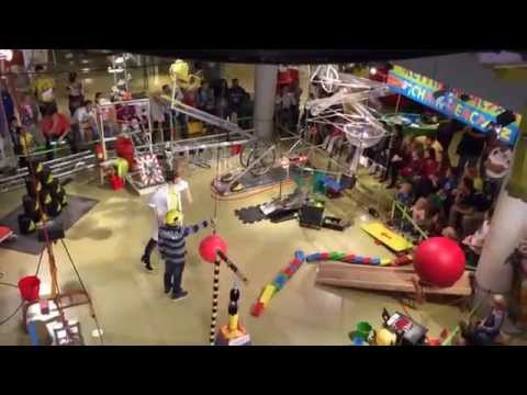 Rube Goldberg machine at Amsterdam's NEMO Science Center