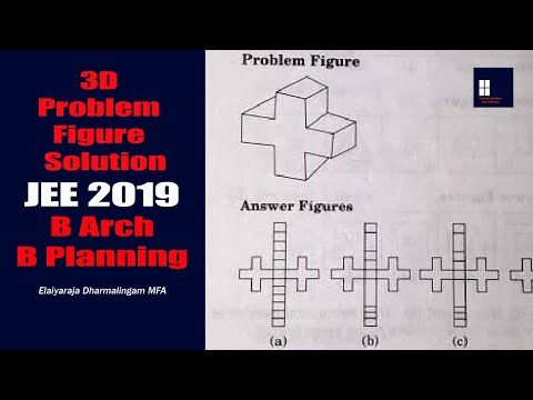 JEE MAIN PAPER II - 3D Problem Figure Solution