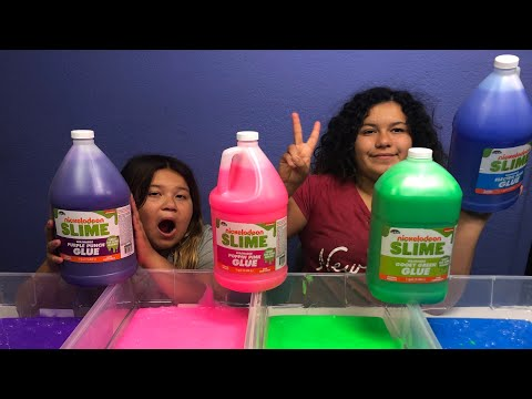NEW CRAZY ART NICKELODEON SLIME GLUE GALLONS - MAKING FOUR GALLONS OF CRAZY ART NICKELODEON SLIME