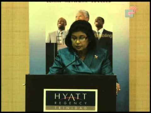 The Honourable Carolyn Seepersad-Bachan speaks at Caribbean Leadership Project