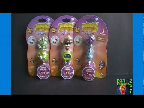 Unboxing 3 Moshi Monsters Moshlings US Series 2 Figure 3-Packs Opening