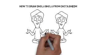 How to draw Dholu Bholu from Chota Bheem
