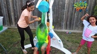 Splash Dunk Tank Challenge Family Fun Activities with HZHtube Kids Fun