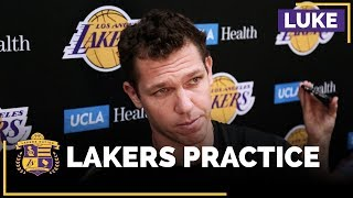 Luke Walton Talks About Lonzo Ball's First Full Practice Back, Learning From Isaiah Thomas