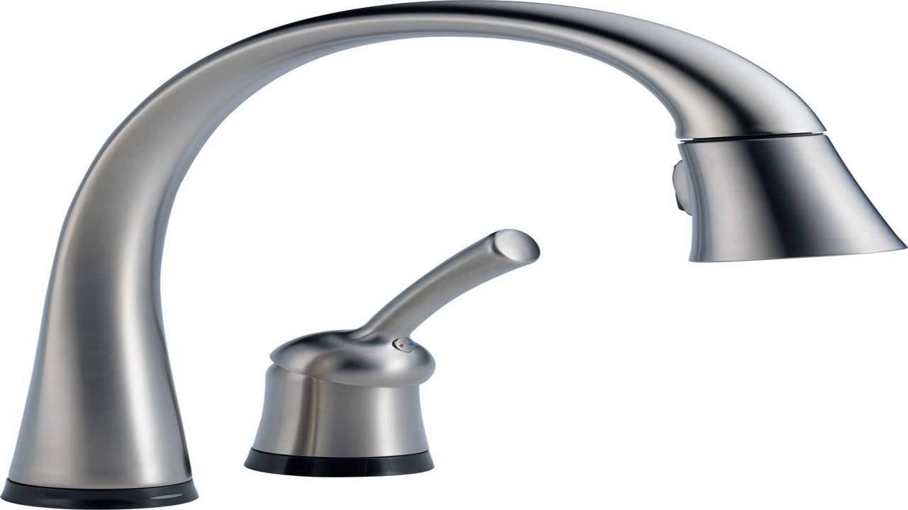 Delta Faucet 9113T AR DST Essa Single Handle Pull Down Kitchen Faucet With    YouTube