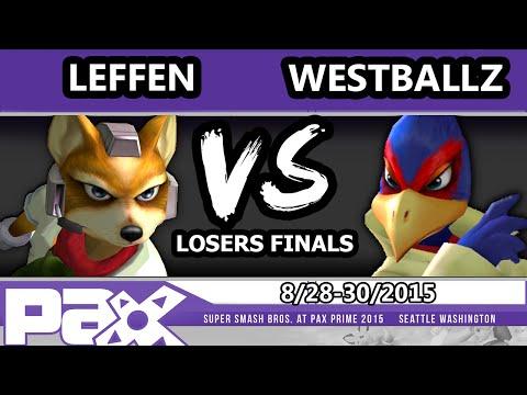 S@P - TSM | Leffen (Fox) Vs. Tempo | Westballz (Falco) SSBM Losers Finals - Smash Melee