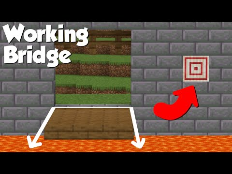 Minecraft: How to build a Working Castle Bridge! (easy)