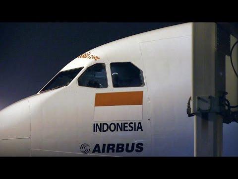Air Asia X A330 Night Landing Jakarta