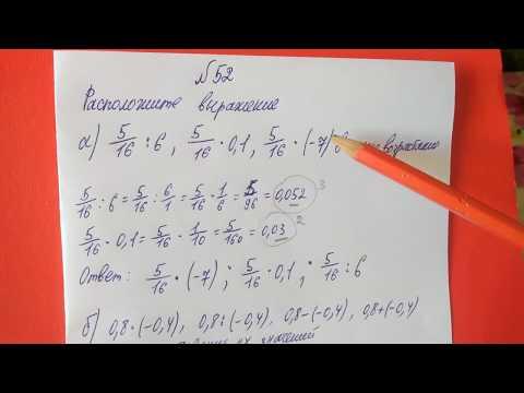 52 Алгебра 8 класс Расположите выражение в порядке возрастания и убывания