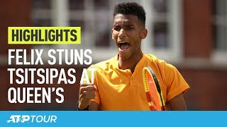 Felix Ousts Tsitsipas, Murray/Lopez Sleep With Lead At Queen's | HIGHLIGHTS | ATP