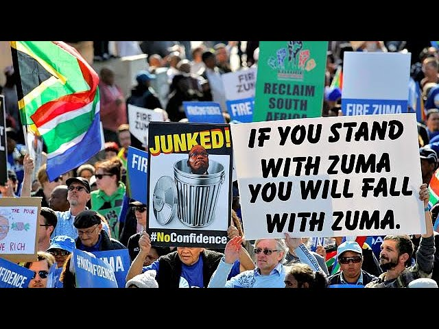 Protesters call for Zuma to go in South Africa