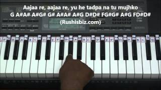 Tu Hi Re Piano Tutorial - Bombay (Hindi) - Gamakas