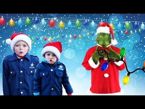 Download Youtube: Grinch takes Christmas lights from headquarters silly fun kids video