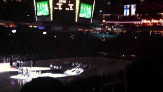 Star-Spangled Banner at NHL Premiere 2011, Helsinki Finland